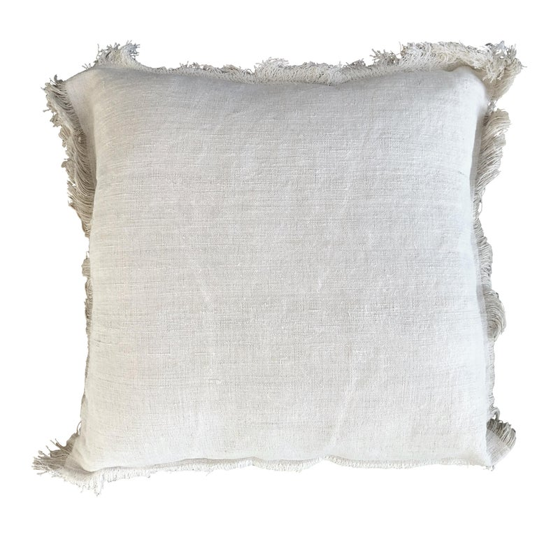 """""""Palermo"""" Handmade Linen and  Cotton Pillow For Sale"""