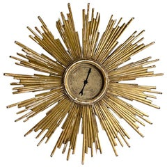 Vintage Gold Leaf European Sun Barometer