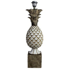 Italian Ceramic Pineapple Lamp