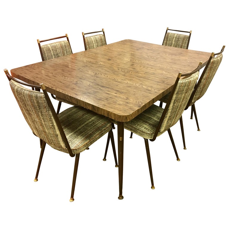 Kitchen Tables And Chairs For Sale: Daystrom Mid-Century Modern Kitchen Dining Set Table