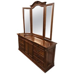 Hickory White Double Dresser and Mirror
