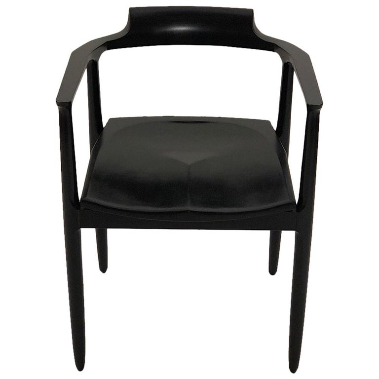 Henry the Armchair in Black Lacquer