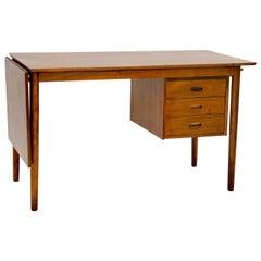 Danish Walnut Desk with Extension, Arne Vodder