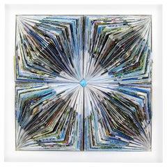Caelus 2018, One-Off Mixed Media on Wood Panel by Italian Artist Alberto Fusco