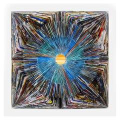 Tetis 2018, One-Off Mixed-Media on Wood Panel by Italian Artist Alberto Fusco