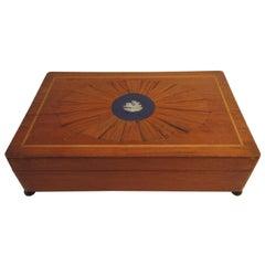 1880s Classical Inlaid Box with Jasperware Plaque