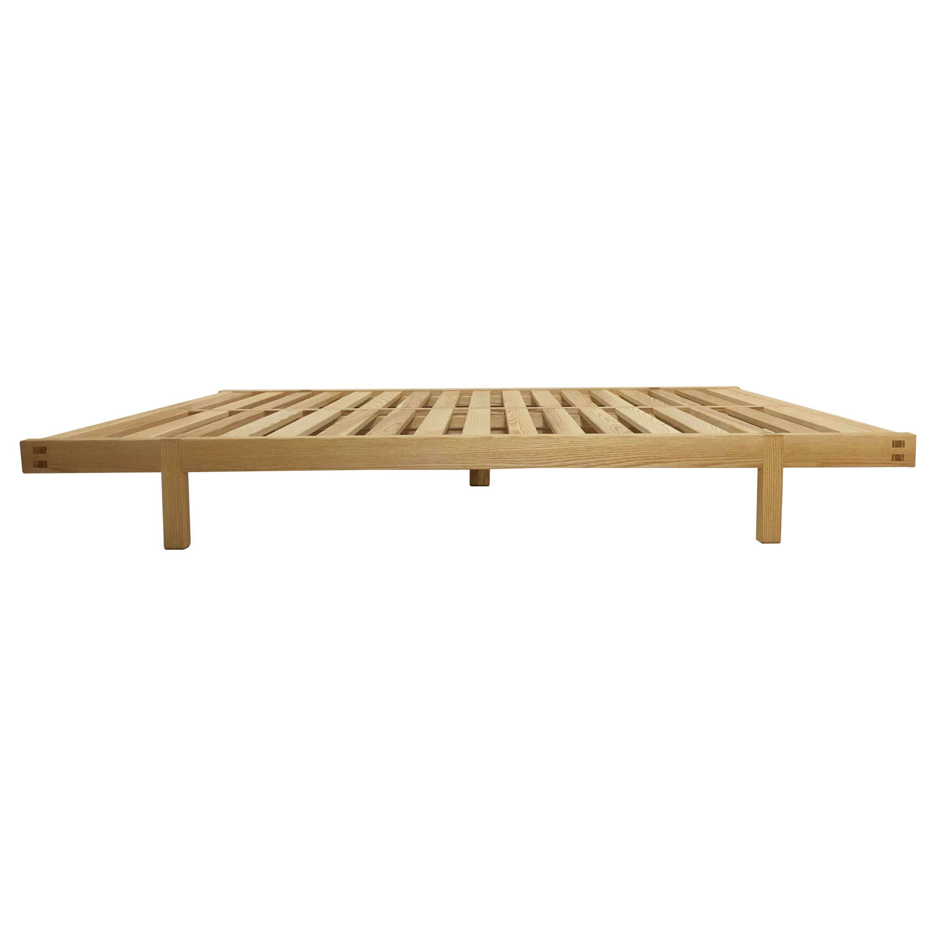 Dovetailed Platform Bed in Ash, Queen Size