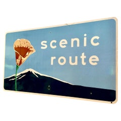 Large 'Scenic Route' California Highway Sign