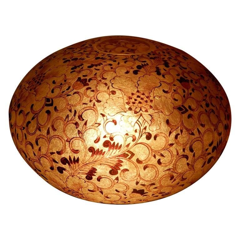 Large Artisan Lucite Mid century Venetian  Globe Shaped Lamp For Sale