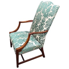 American Hepplewhite Lolling Chair, MA or NH