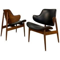 Pair of Mid-Century Modern Ib Kofod Larsen Style Penguin Chairs