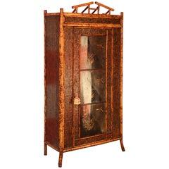 19th Century English Bamboo Armoire