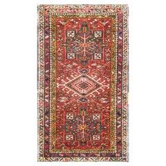 Antique Persian Karaja Heriz Rug