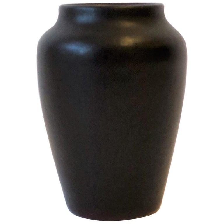 Zark Arts & Crafts Matte Pottery Vase For Sale