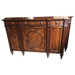George III Style Mahogany and Burl Banded Side Cabinet by Theodore Alexander