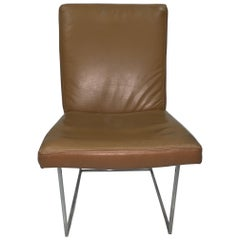 4 Leather Milo Baughman Dining Chairs