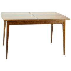 Fold Out Dining Table in Walnut Veneer for Jitona, Czechoslovakia, 1970