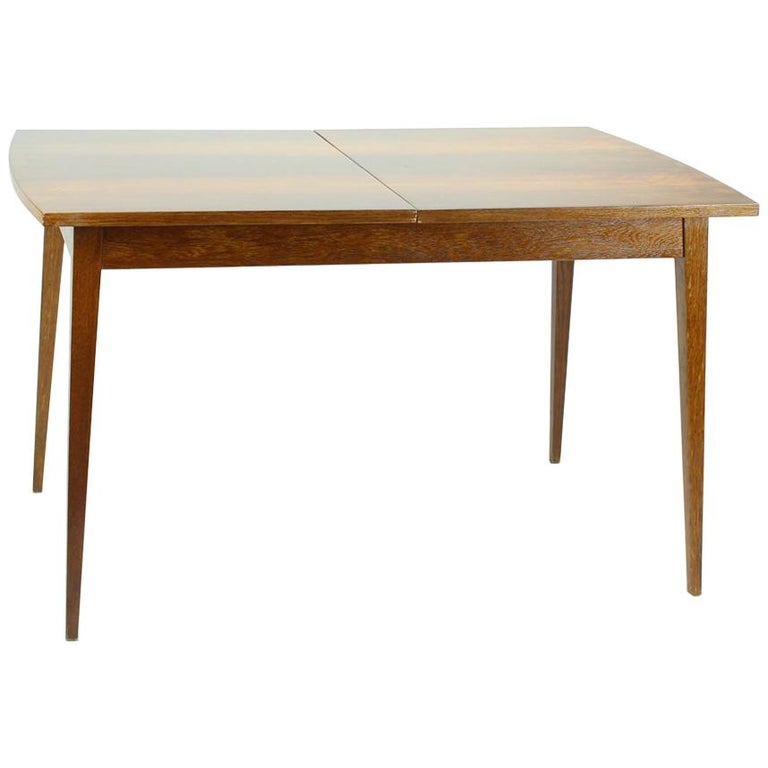 Fold Out Dining Table in Walnut Veneer for Jitona, Czechoslovakia, 1970 For Sale