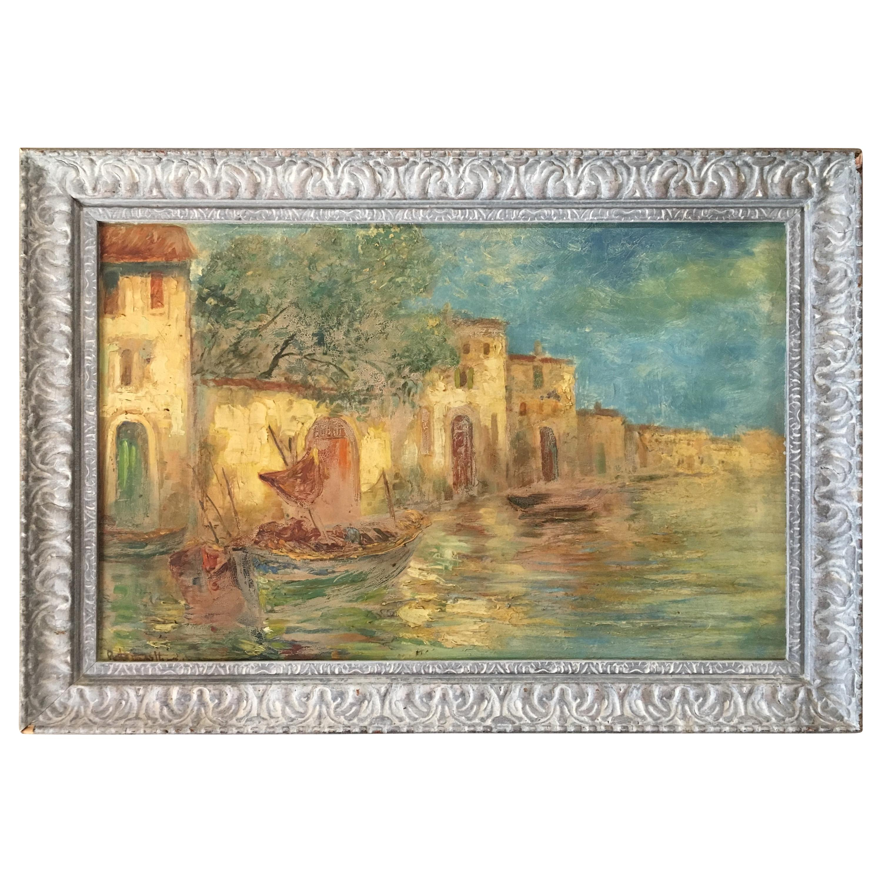 French Post Impressionist Landscape Painting, Signed