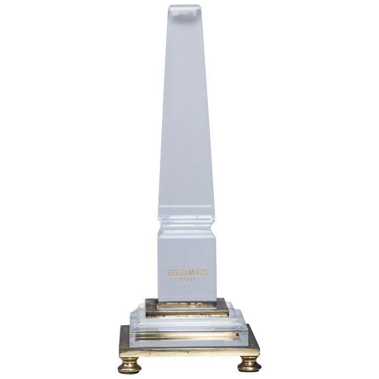 Hermes Lucite Obelisk Desk Accessory, 1970 For Sale