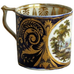 "George 111rd Derby Coffee Can Hand Painted Named View ""Near Edmonton"", Ca 1810"