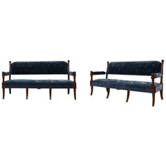 Pair of 19th Century Egyptian Style Settees