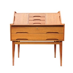 Danish Teak Vintage Bureau or Writing Desk, 1960s