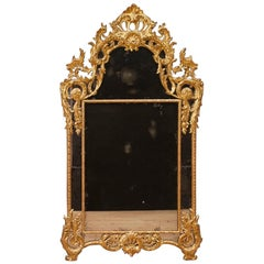 20th Century Gilt, Chiseled Wood Italian Louis XV Style Mirror, 1960