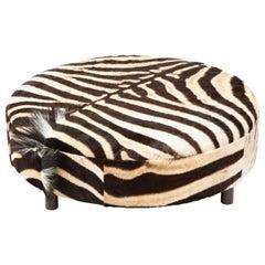 Zebra Hide Ottoman