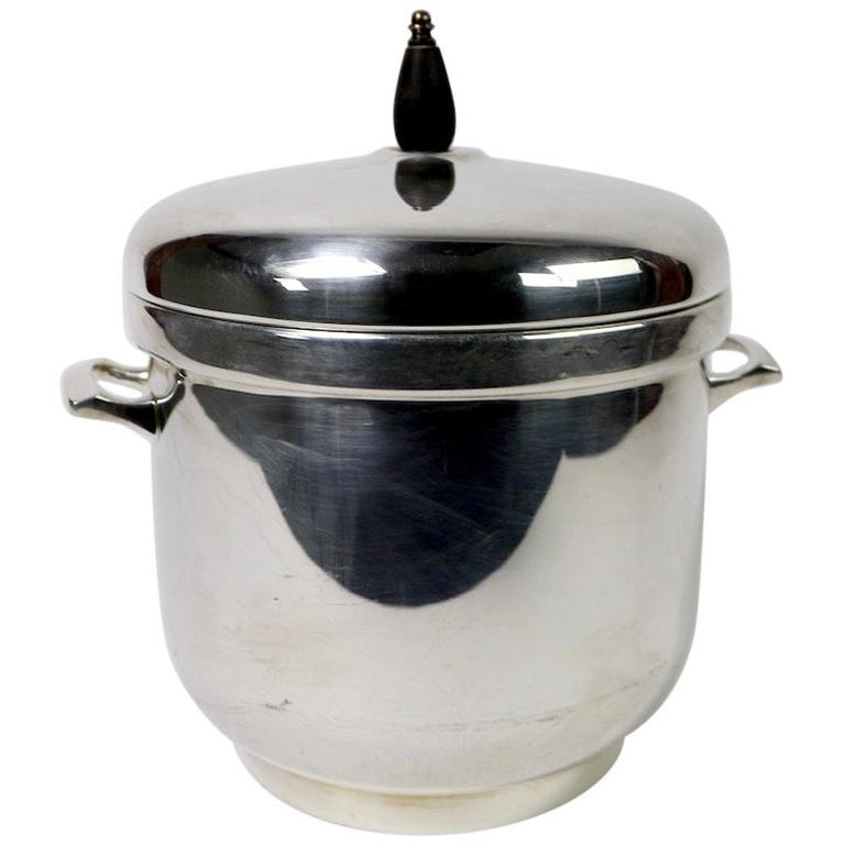 Black Starr Silver Plate Ice Bucket For Sale
