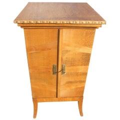 1920s Gramophone Vinyl Cabinet Beechwood