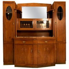 1920s Art Deco Cabinet Living Room Buffet with a Mirror