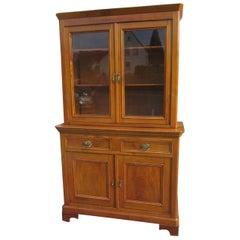 Late Biedermeier Kitchen Cabinet Cherry Wood, 1870s