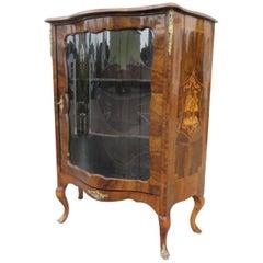 Baroque Vitrine Cabinet Made of Walnut Burl, 1870s