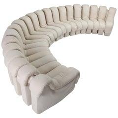 De Sede 'Snake' DS 600 Sectional Beige Linnen Non Stop Sofa