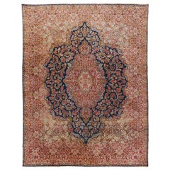 Vintage Persian Kerman Rug Carpet, circa 1920