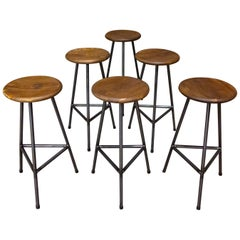 Handcrafted Industrial Bar Stools