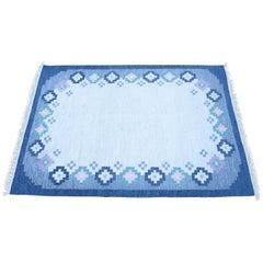 Midcentury Swedish Flat-Weave Carpet, 1960s