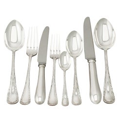 Edwardian English Sterling Silver Canteen of Cutlery for Ten Persons