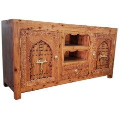Moroccan Wooden Media Stand, Thuya Wood