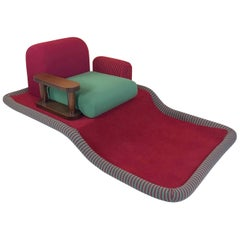 "Ettore Sottsass ""Tappeto Volante"" Armchair for Bedding Brevetti, Italy, 1974"