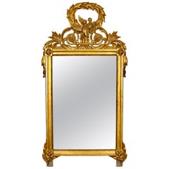 Giltwood French Louis XVI Style Mirror