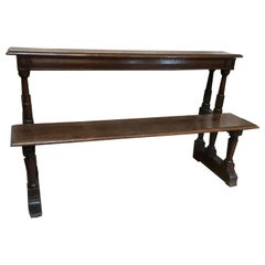 17th Century Pew Church Bench Oak