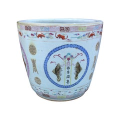 Large Chinese Porcelain Cachepot Planter, circa 1900