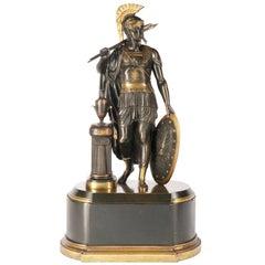 Classical Bronze Roman Centurion, 19th Century