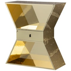 Apollon Gold Contemporary Cabinet Polished Aluminium