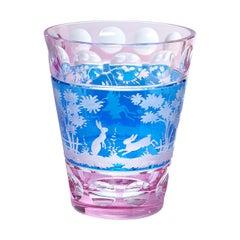 Glass Vase Blue Crystal with Easter Decor Sofina Boutique Kitzbühel