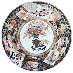 Early 18th Century Japanese Imari Charger of Large Scale