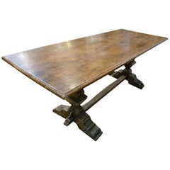 19th Century Monastery Style Oak French Table