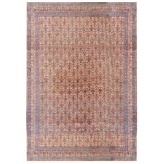 Antique Oversize Persian Tehran Rug Carpet, circa 1900